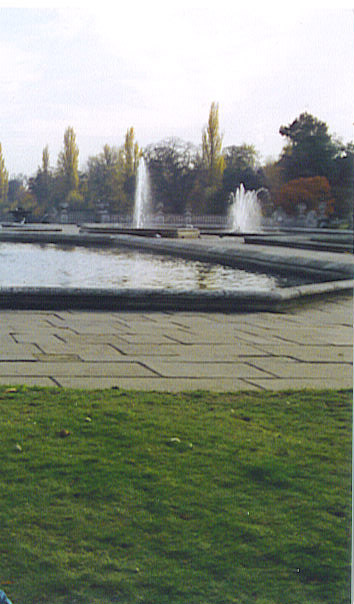 Water feature of the Italian Gardens in Kensington Gardens