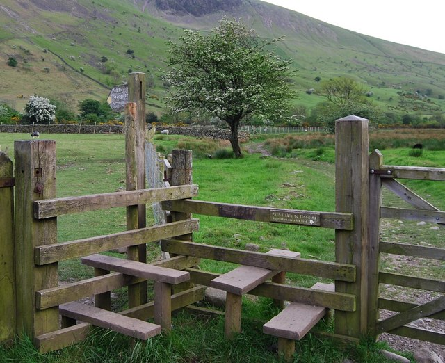 Two stiles off the road near Wasdale Head