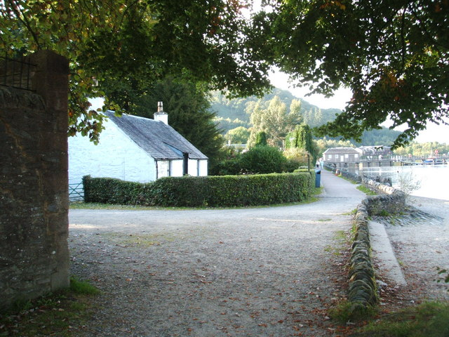 Cottage in Luss, viewed  from Rescue Boat Station