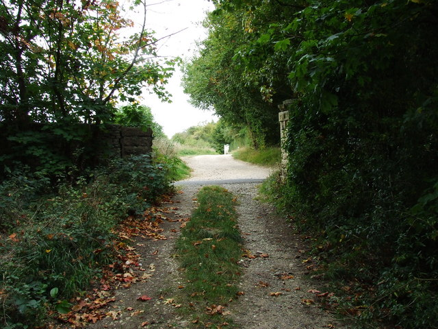 Bridleway towards Pinswell crossing the Colesbourne to Hilcot road