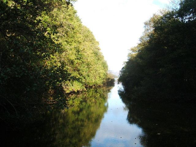 Luss Water flowing into Loch Lomond