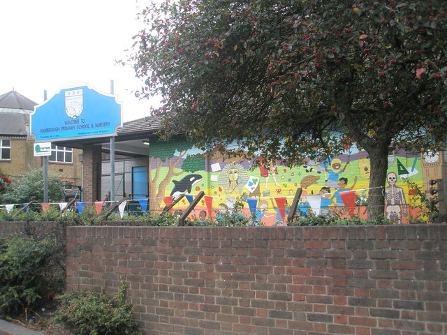 Mural at Hambrough Primary School