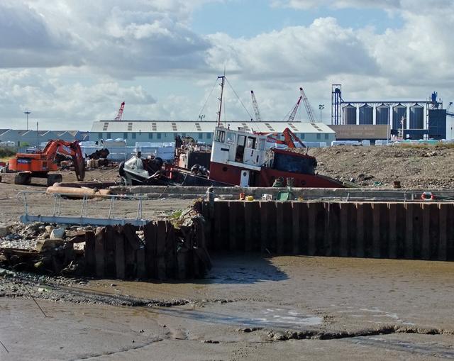 Demolition Slipway at New Holland