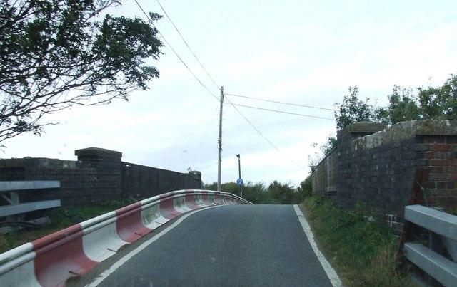 Road Bridge over Railway line at West Hewish
