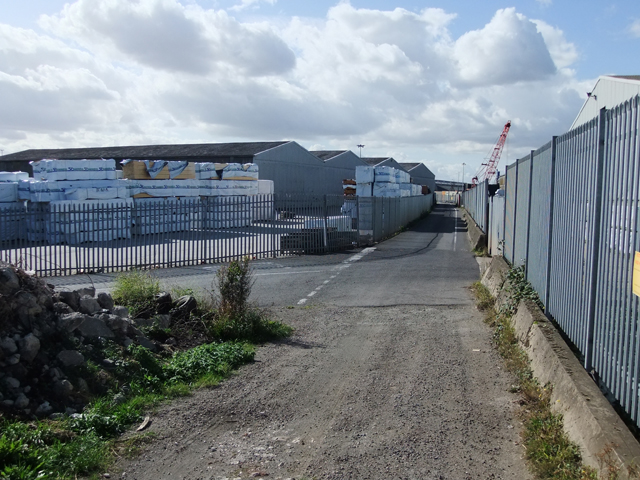 Public Footpath at New Holland Dock