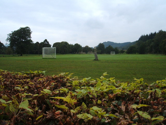 Shinty field and Standing Stone