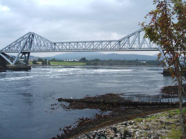 Falls of Lora at Connel Bridge