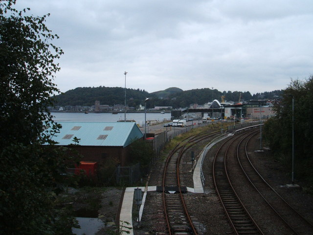 Railway lines at Oban Ferry Terminal