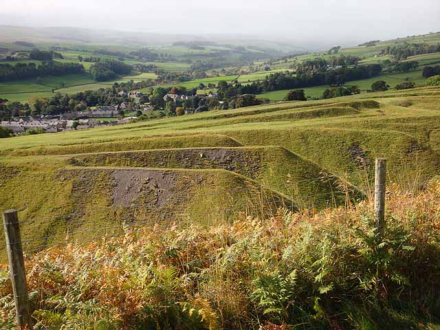 Disused quarry at Crawleyside and upper Weardale