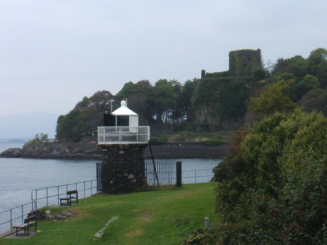 Oban Beacon and Dunollie Castle