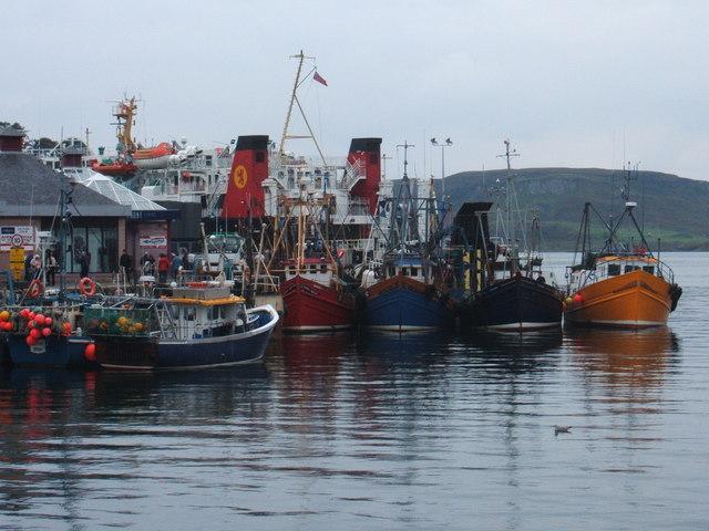 Fishing boats at Oban