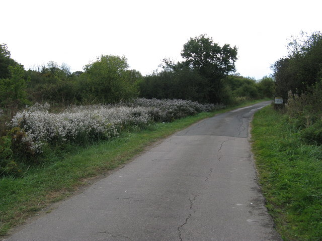 Private road to Oreham Manor, Oreham House and several more residential houses