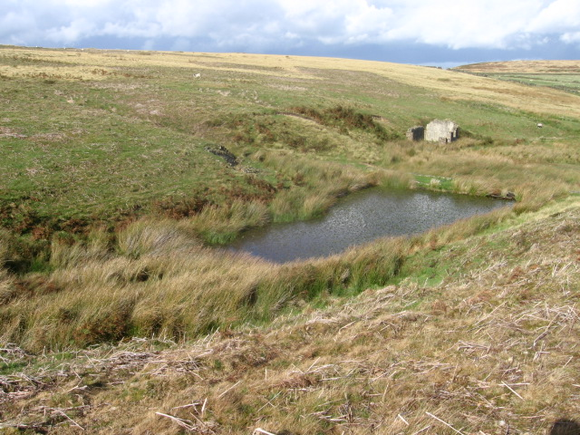 Reservoir and Ruin on Abney Moor