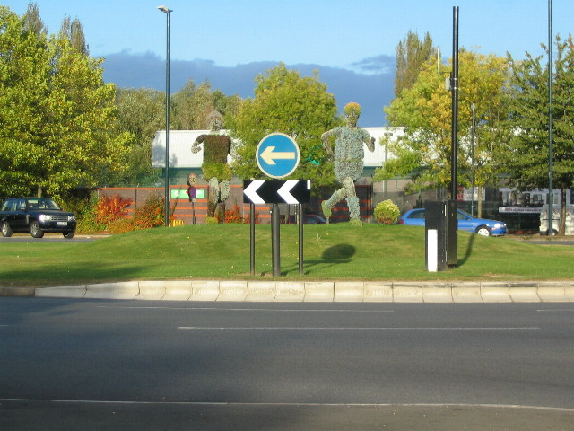 Floral display, Fletchamstead Highway roundabout