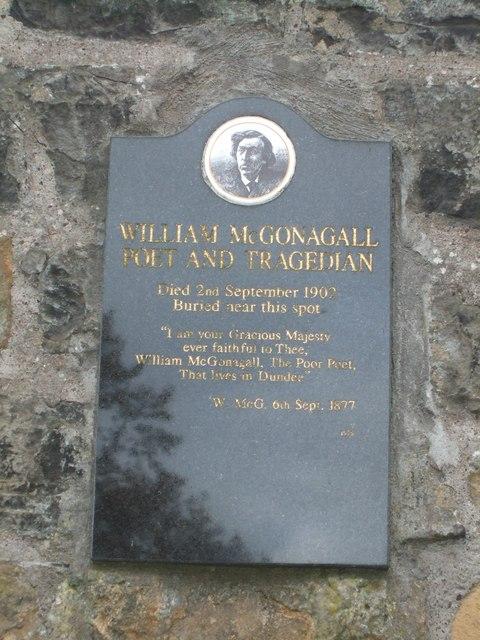 Grave of William McGonagall
