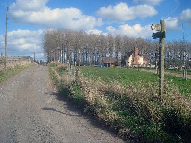 Bridleway sign near Great Marston