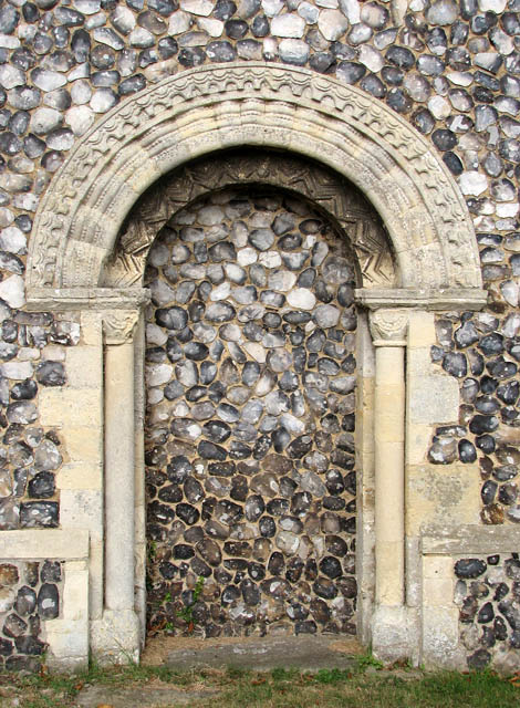 St Botolph's church - the Norman south doorway
