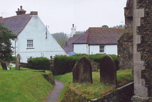 Church path at Elham, Kent