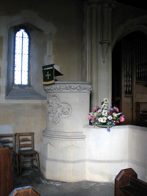 St Botolph's church - the pulpit