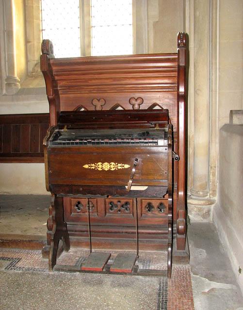 St Botolph's church - a tiny harmonium