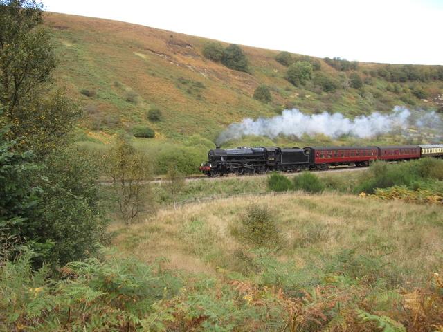 Locomotive 45212 on North Yorkshire Moors Railway