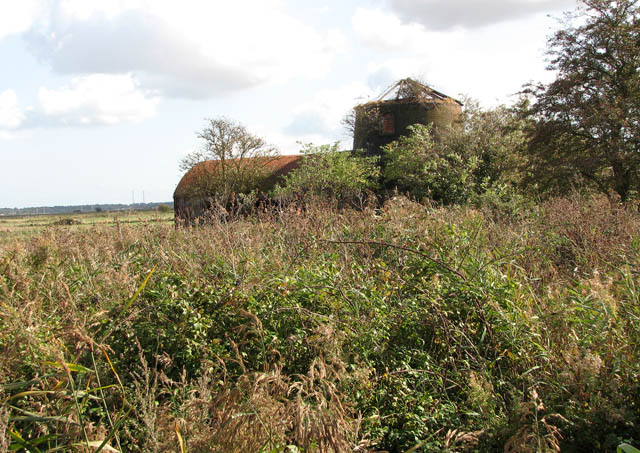 Derelict drainage mill east of Ferry Road