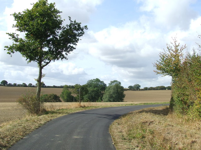 Country Road And Footpath