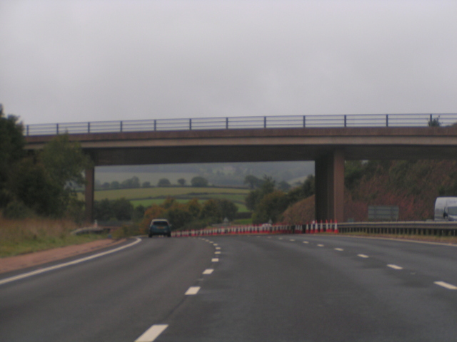 The A379 crossing the A30, looking west