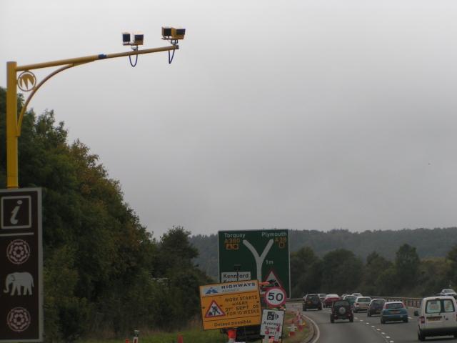 ANPR cameras at Kennford road works