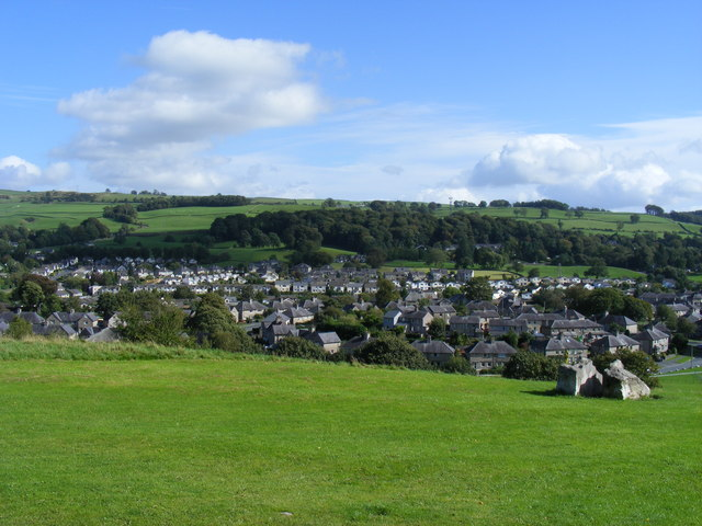 View from Kendal Castle toward Castle Drive