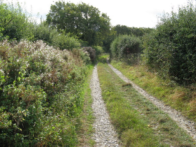 Farm track south to Tottington Wood