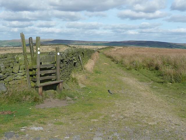 Track along the edge of Erringden Moor