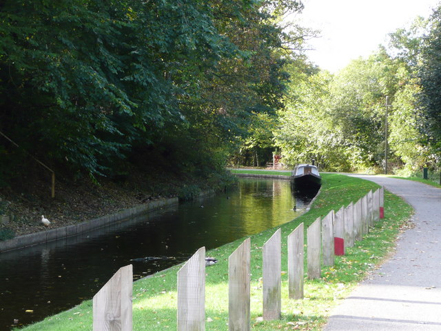 Llangollen Canal at Chirk Bank looking westwards