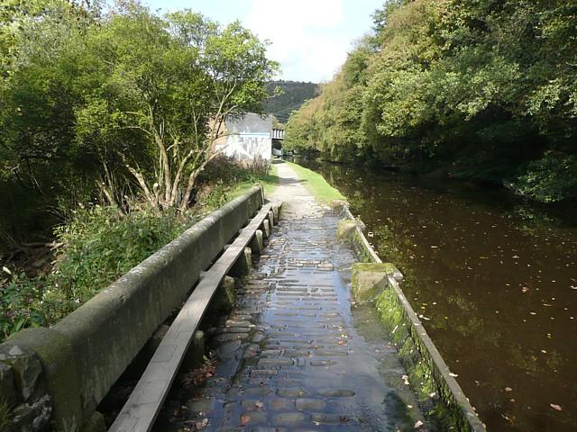 Canal overflow near Hebden Bridge