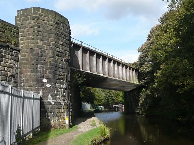 Railway bridge over canal, near Hebden Bridge