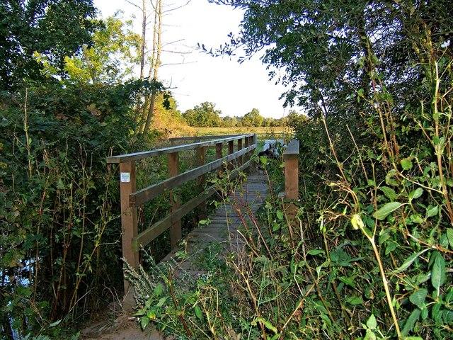 Footbridge near Northwick, Worcester