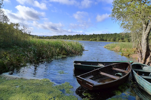 Anglers' boats on King's Myre