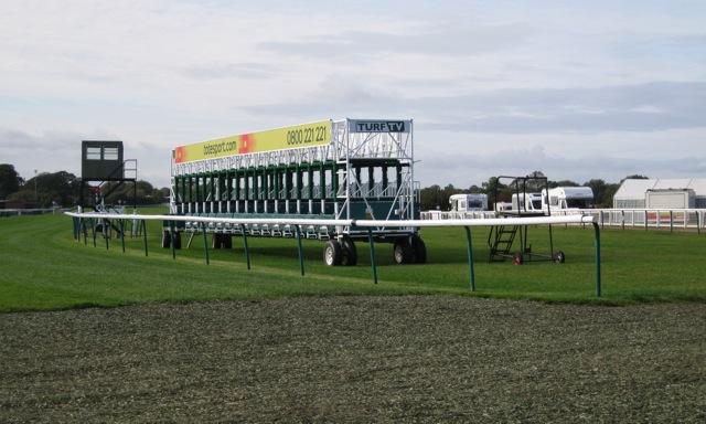 Mobile starting gates, Warwick racecourse