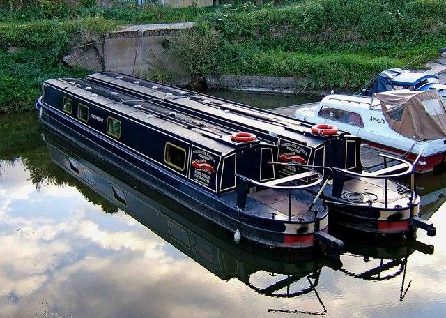 Narrowboats at Northwick Marina, Worcester
