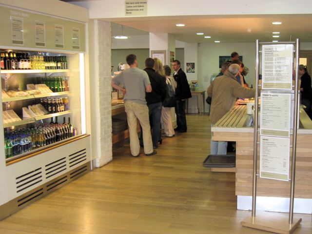 Inside the Self Service Restaurant, at Polesden Lacey