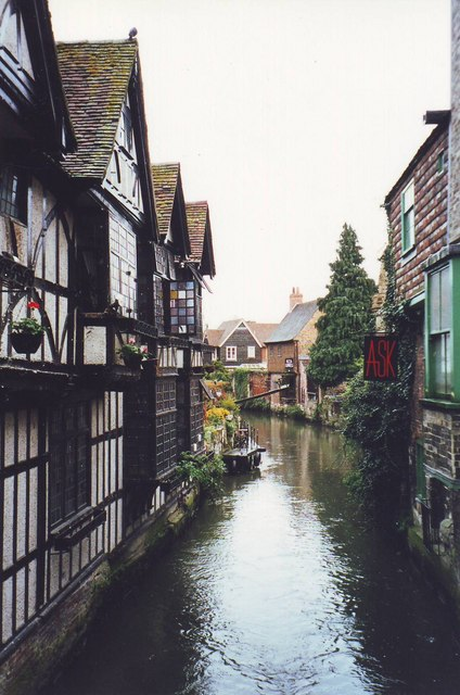 Part of the Great Stour flowing through Canterbury city centre