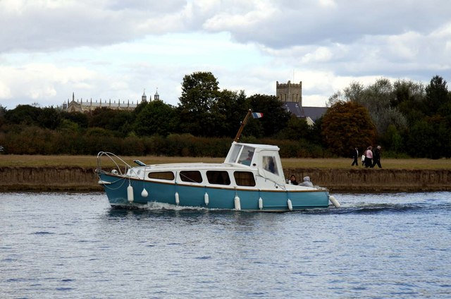 A boat on the Thames at Windsor