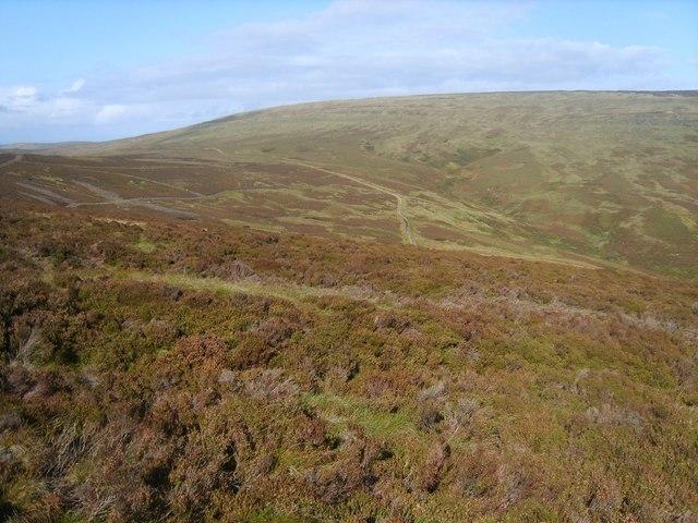 Descending Baxton Fell