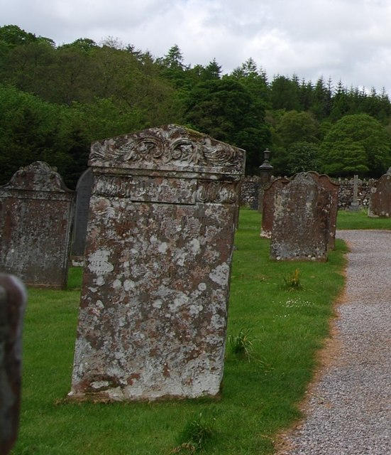 Sloping gravestones, Eskdale Church, Boot