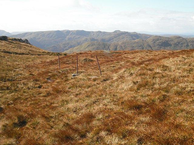 Ruined fence, Beinn Ruadh