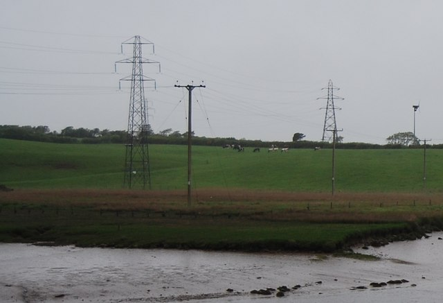 Pylons by the River Mite