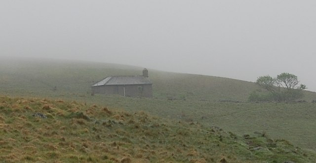 Burnmoor Lodge in the mist