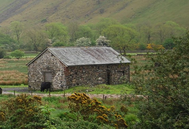 Barn by Down in the Dale Bridge, Wasdale