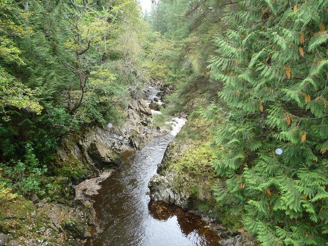 The Afon Mawddach from the footbridge near Tyddyn Gwladys