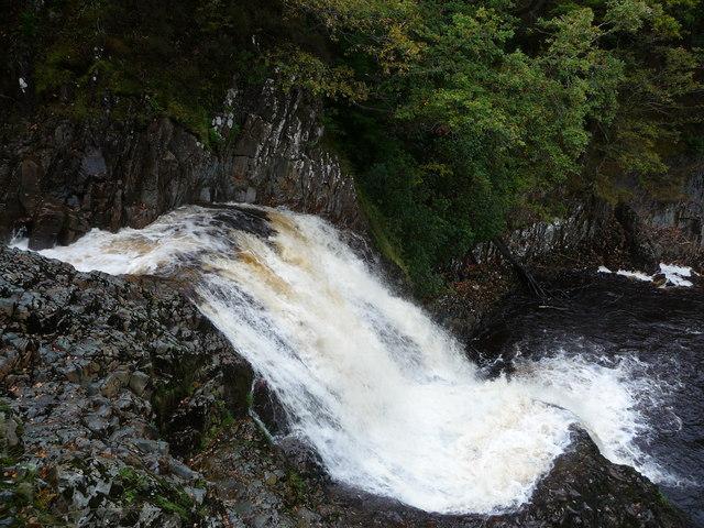 Rhaeadr Mawddach on a damp day in October.